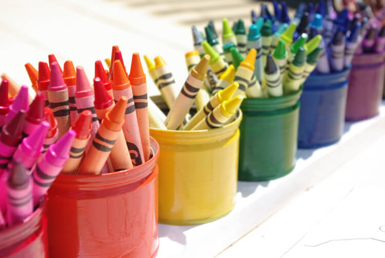 Montessori Style Crayon Holder