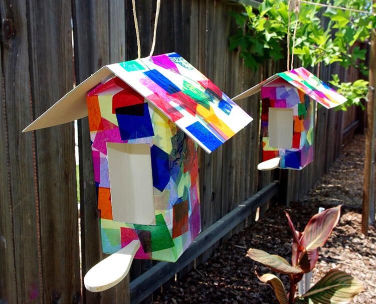 Madáretető tejes kartonból - Kreatív, kézműves csodák- Nyár, 2. rész