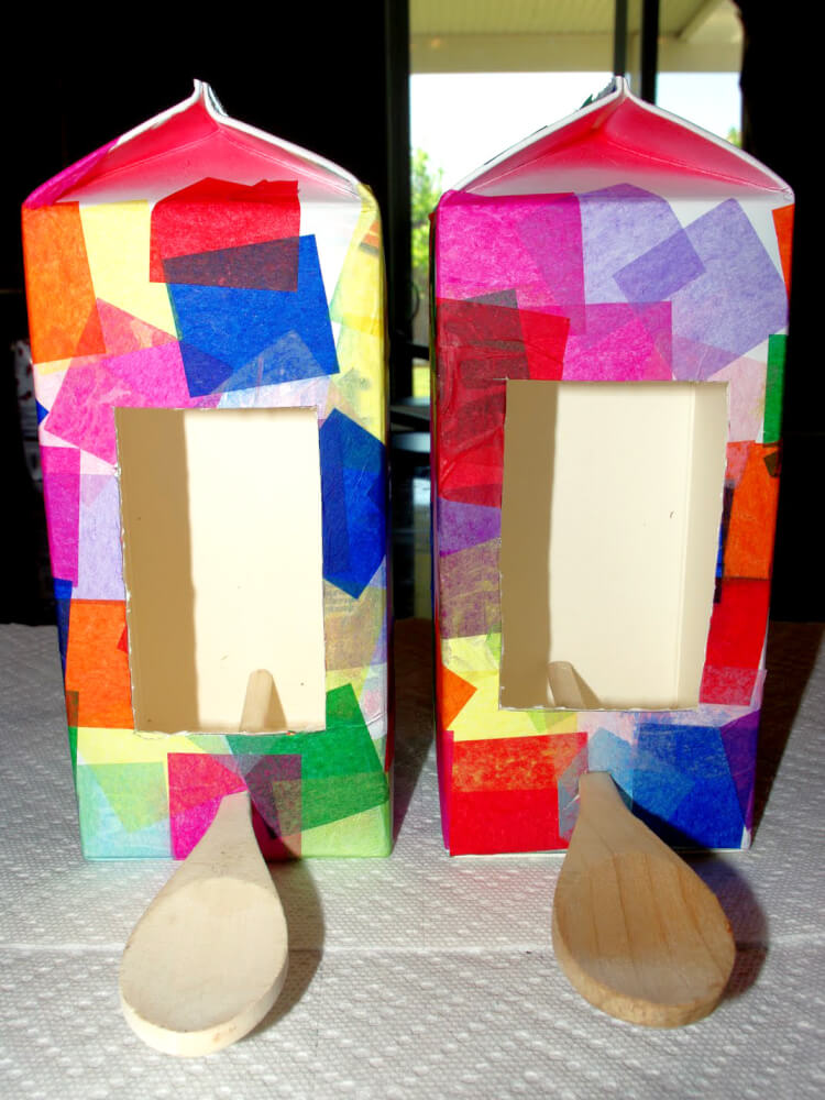 Milk Carton Birdhouse Bird Feeder Kids Craft Happiness