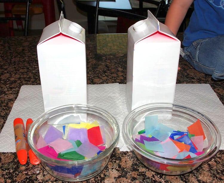 Milk Carton Birdhouse Bird Feeder Kids Craft Happiness Is Homemade