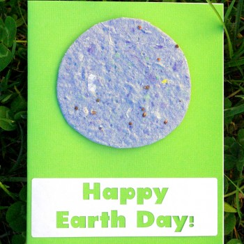 Earth Day Cards with Recycled Plantable Seed Paper