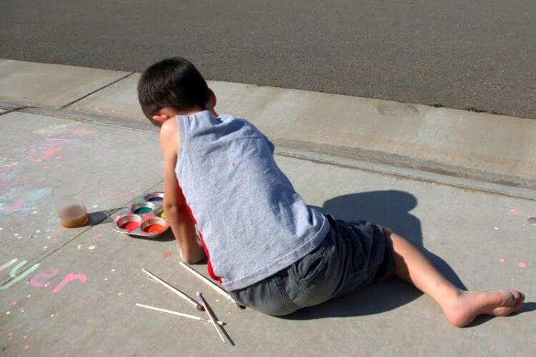 Sidewalk Chalk Paint Happiness Is Homemade
