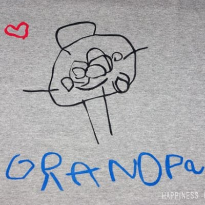 Father's Day Gift: Kid's Artwork Shirt for Grandpa