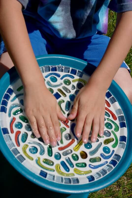 Kids Craft - Mosaic Flower Pot Bird Bath