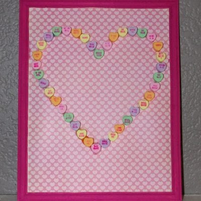 Valentine's Kids Craft: Conversation Heart Art