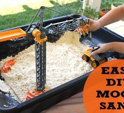 Easy DIY Homemade Moon Sand