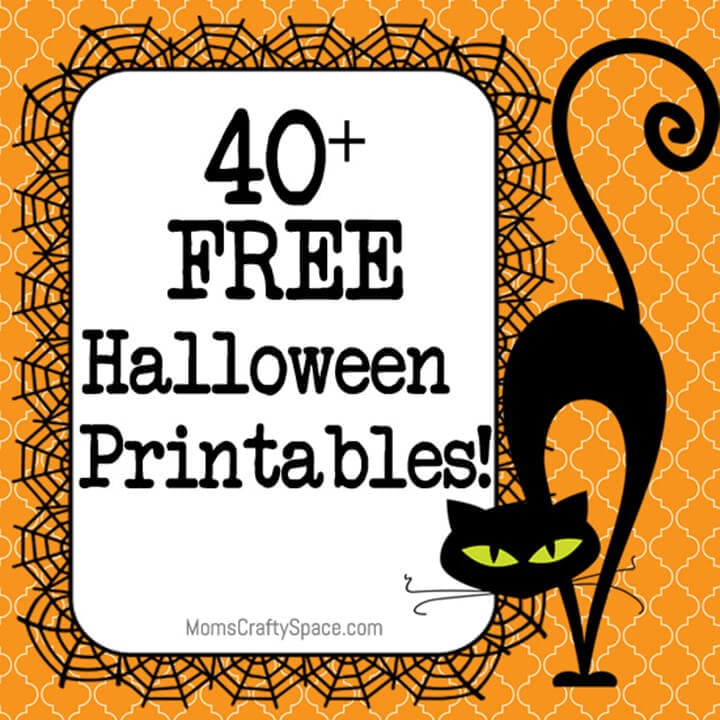 It's just a graphic of Geeky Free Halloween Printable