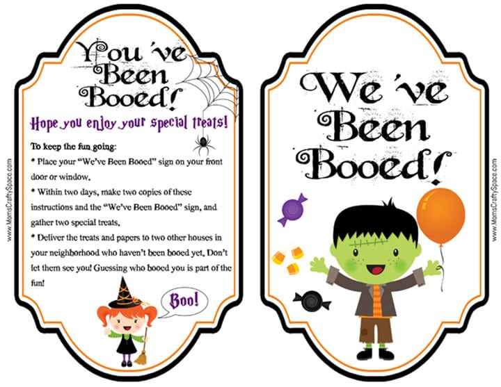 picture relating to You've Been Booed Free Printable titled Cost-free Youve Been Booed Printables! - Pleasure is Selfmade