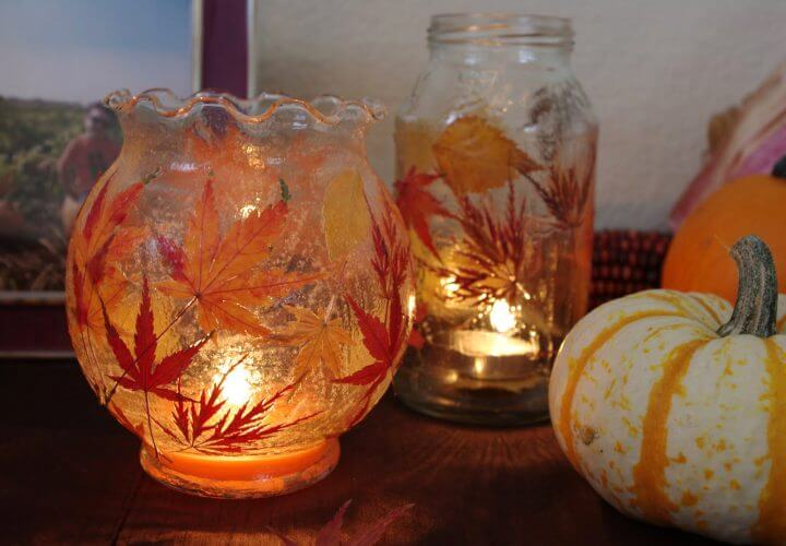Fall Leaf Lanterns {Tutorial}