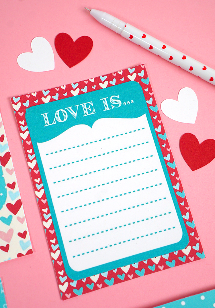 graphic about Printable Love Notes identified as Lunch Box Enjoy Notes - Joy is Selfmade