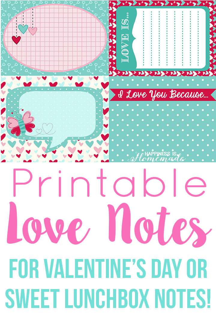 It's just a picture of Modest Printable Love Notes