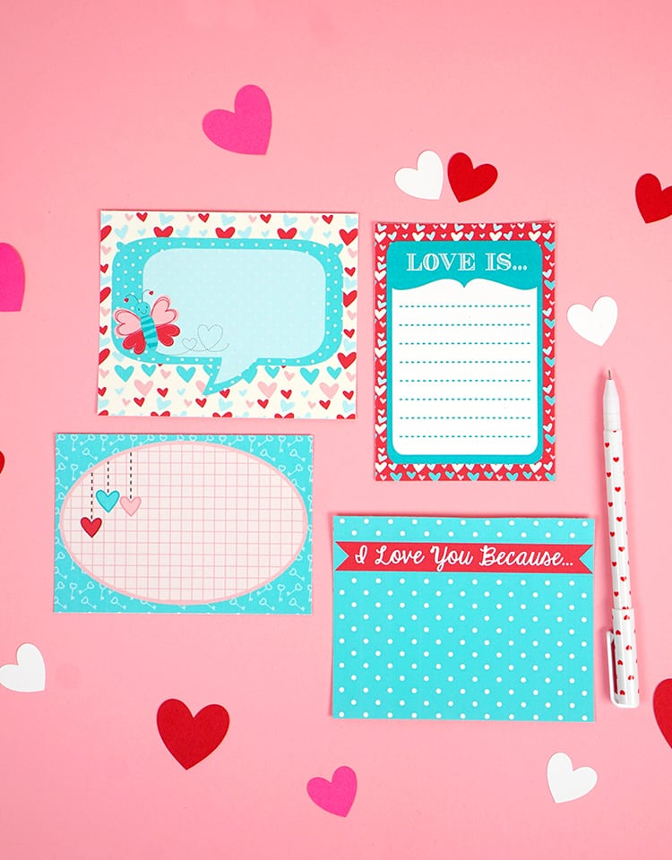 printable love notes for Valentine's Day