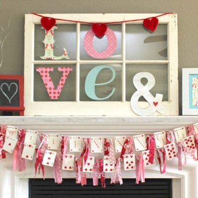 Valentine's Day Heart Cards Garland