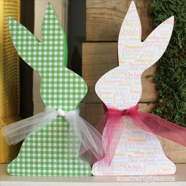 Mod-Podged-Wooden-Easter-Rabbit-Bunny