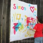 Toddler Time: Oversized Outdoor Painting