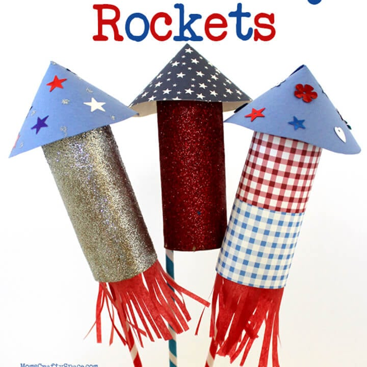 Kids craft 4th of july rockets happiness is homemade for How to make a cheap rocket