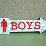 DIY Bathroom Door Signs