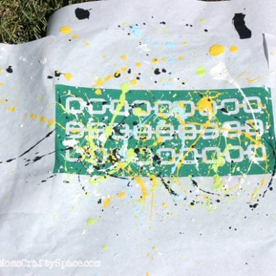 80's Inspired Splatter Painted Shirts