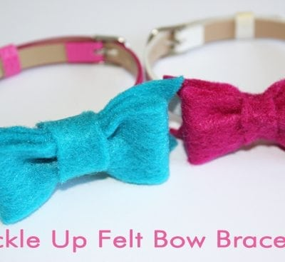 Buckle Up Felt Bow Bracelet {Tutorial}