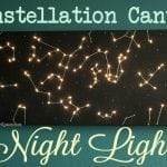 DIY Canvas Constellation Night Light