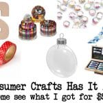 Consumer Crafts Haul Video & Super Cyber Monday Sale!