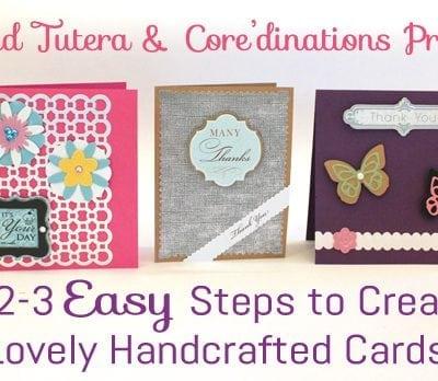 1-2-3 Simple Steps to Beautiful Handmade Cards