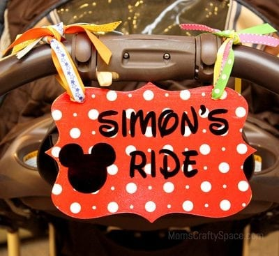 Disney Love: Stroller Identification Tag
