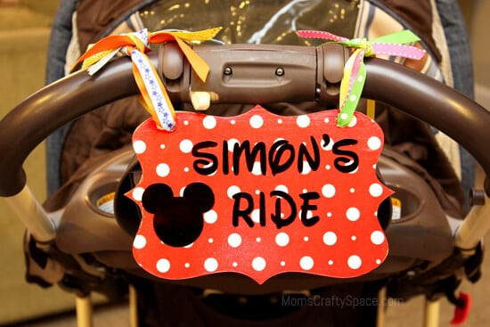 Disney Love Stroller Identification Tag Happiness Is
