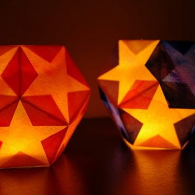 Dodecahedron Star Lantern {Tutorial}