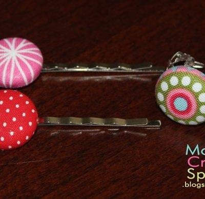 Fabric Button Accessories Tutorial
