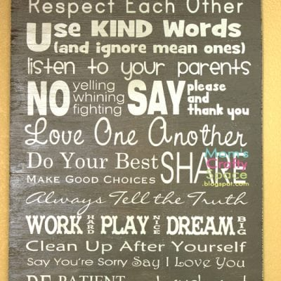 Easy DIY Family Rules Artwork
