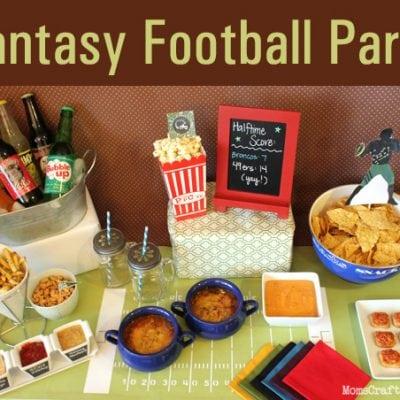 Fantasy Football Party + Parmesan Garlic Fries