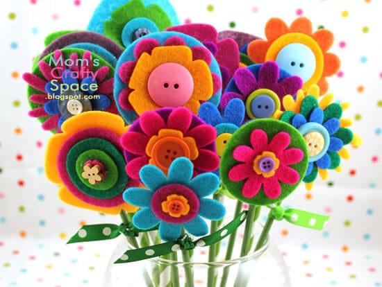 Felt Flowers 3