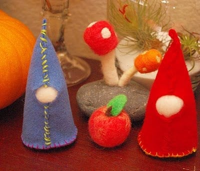 First Sewing Projects: Felt Gnomes