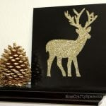 Glitter Deer Silhouette Canvas