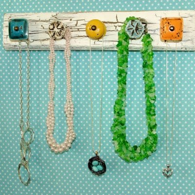 Distressed Knob Jewelry Holder