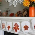Leaf Printed Autumn Banner
