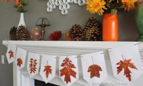 Leaf Print Banner