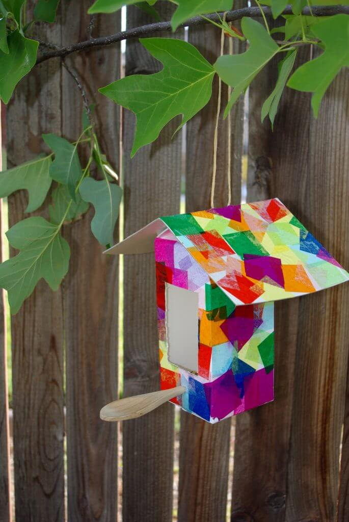 Milk Carton Collage Birdhouse