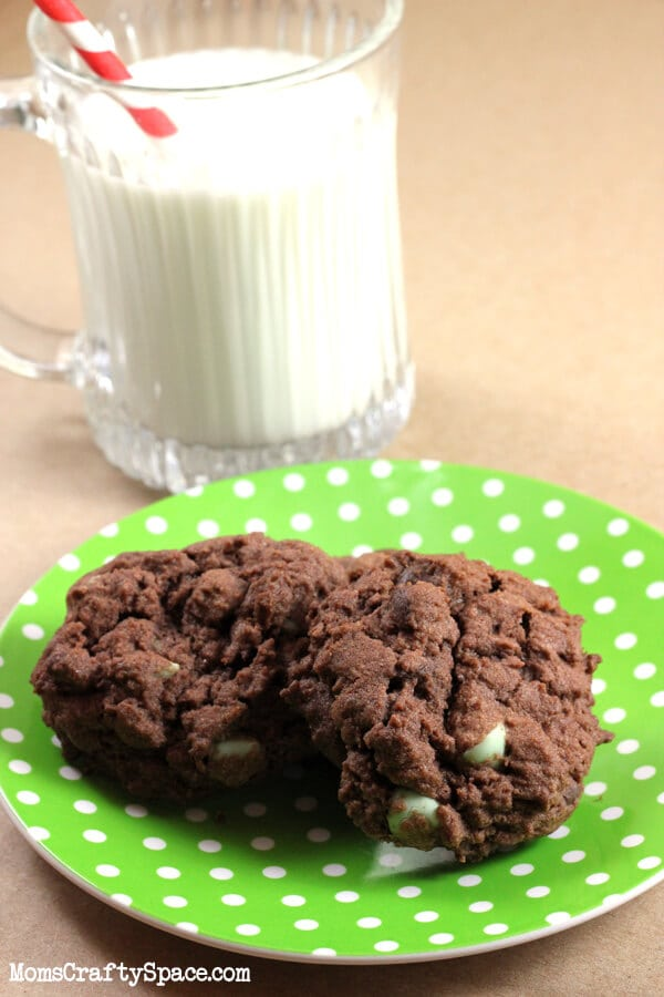 Mint Chocolate Chip Pudding Cookies {Recipe} - Happiness ...  Mint Chocolate ...