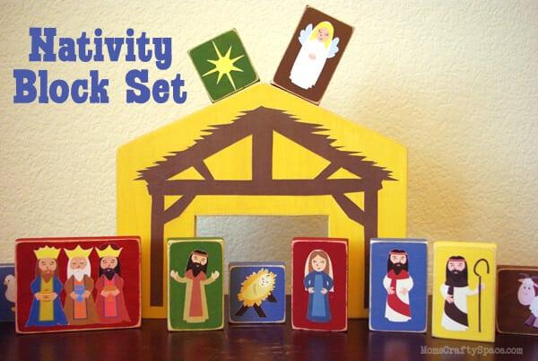 Diy Nativity Blocks Happiness Is Homemade