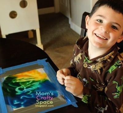 Kids Craft: No Mess Finger Painting