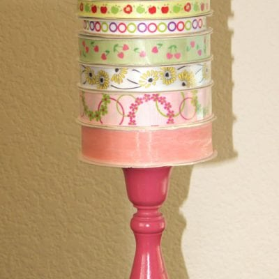 Candlestick Ribbon Holder