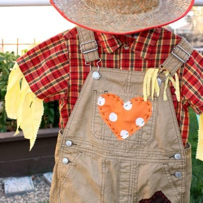 DIY Toddler Scarecrow Costume With RIT Dye
