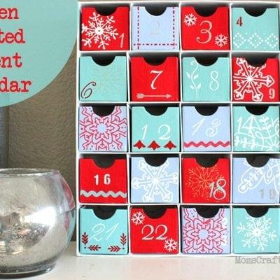 Screen Printed Advent Calendar