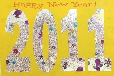 Sparkly New Year Suncatcher