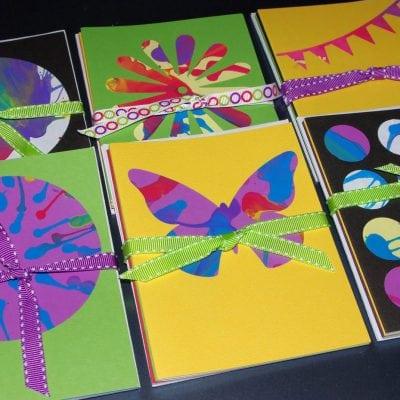Spin Art Notecards