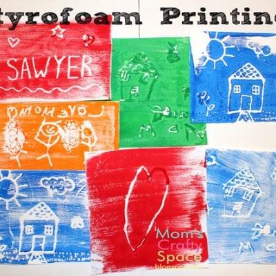 Kids Craft: Styrofoam Printing