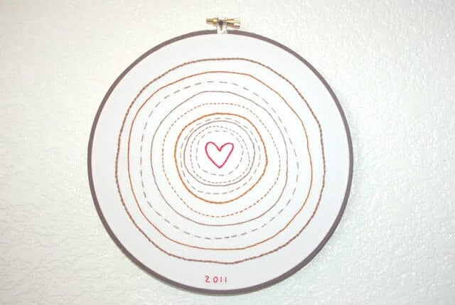 Tree Ring Embroidery