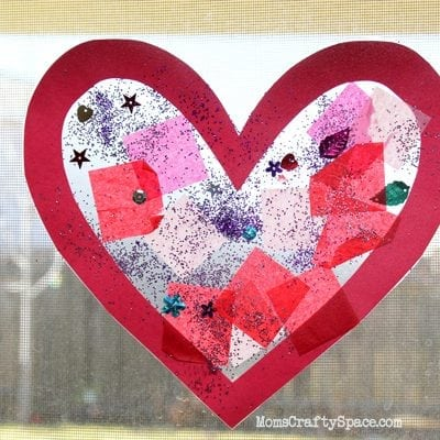 Toddler Time: Simple Valentine's Day Heart Suncatcher